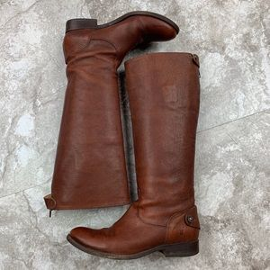 Frye Melissa Button Back Riding Boot Size 6